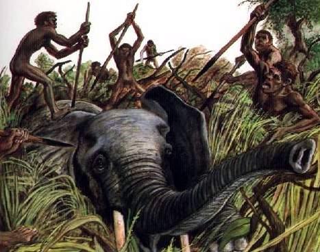photo comment chasser les hommes prehistoriques